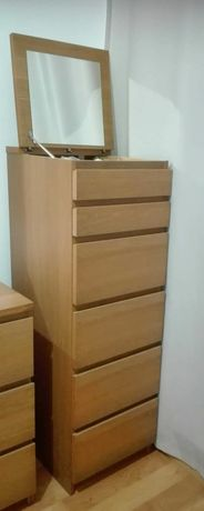 Cómoda com Espelho e 6 Gavetas --IKEA
