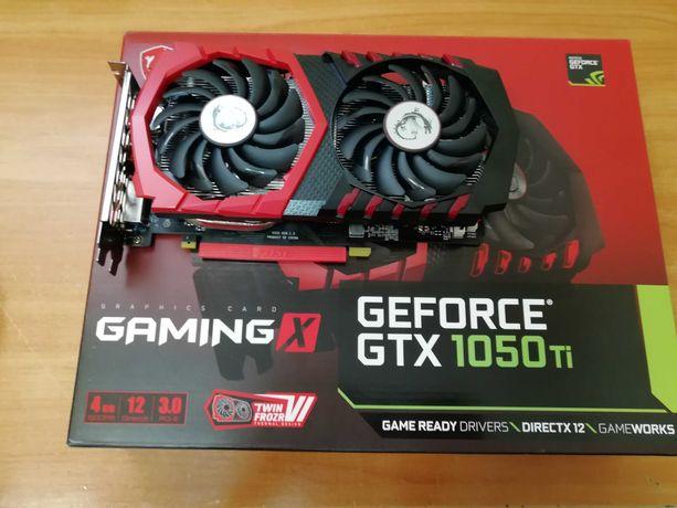 Видеокарта MSI GeForce GTX 1050 Ti 4GB GAMING X 13000 рублей