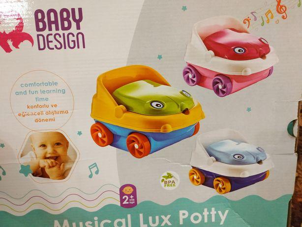Музыкальный детский горшок-машинка