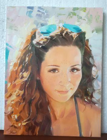 Уроки рисования онлайн. Портреты по фото. Авторские работы.