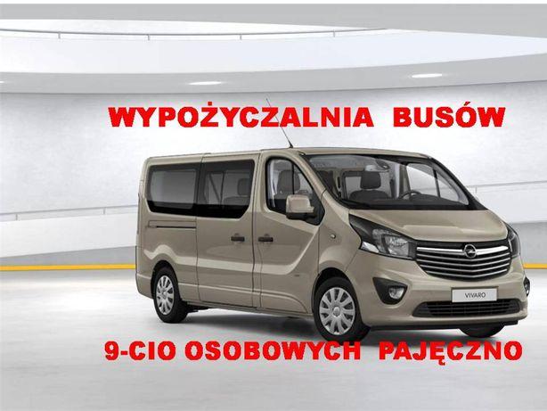 Bus wynajem Wypożyczalnia samochodów busy 9 osobowy bus wypożyczenia