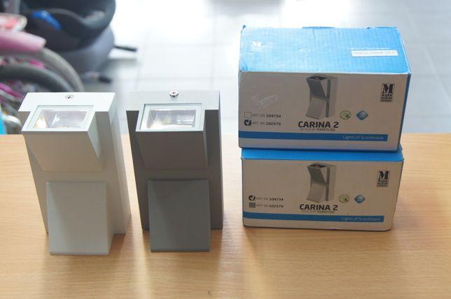 Markslojd Carina 2 LED kinkiet elewacyjny 2-punktowy IP44 na zewnątrz