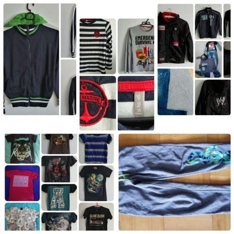 Zestaw ubrań, paka dla chłopca 140-146, 20 sztuk