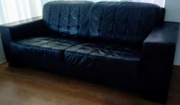 sofá pele genuína