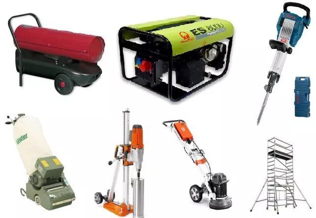 Aluguer de máquinas e ferramentas p/ construção e bricolage desde