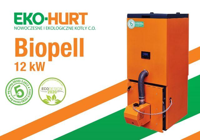 Kocioł Biopell 5 klasy o mocy 12 kW na pellet - certyfikat ECODESIGN