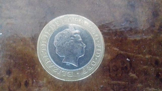 Монета два фунта 1998года