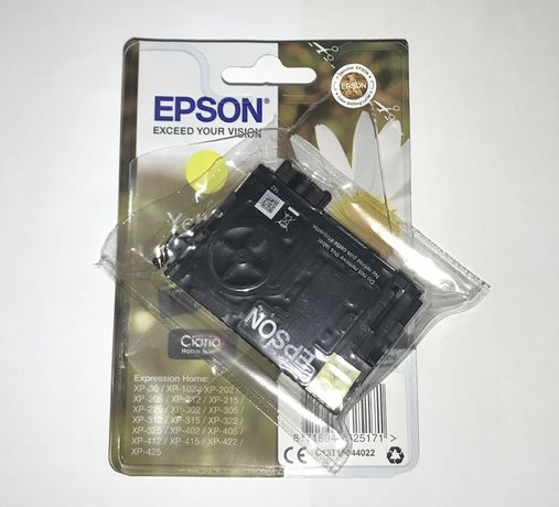 Tinteiro Amarelo Epson Original 18 XP - NOVO