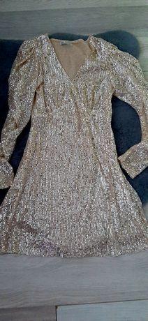 Sukienka zara złota