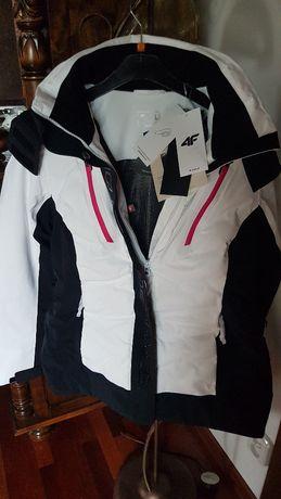 Piękna kurtka narciarska 4F KUDN161 - biała