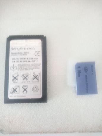 Bateria original Sony Ericsson P800 P900, BST 15 + cartão memória