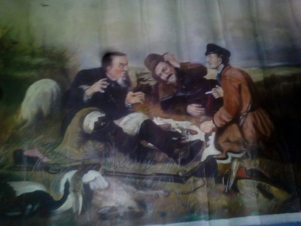 Продам картину Привал на охоте
