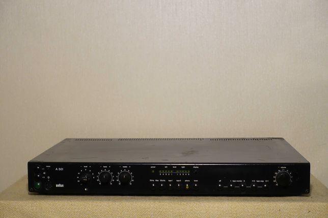 Музыкальный HI-FI усилитель BRAUN A-501 (8 транзисторов/2х105Вт)