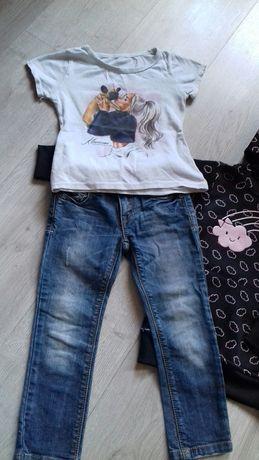 Bluzka+spodnie +bluza 4-5lat dla dziewczynki