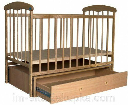 """Детская кроватка """"Наталка"""" с маятником и ящиком Курахово - изображение 1"""