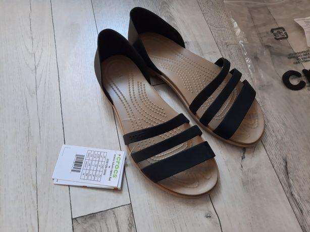 crocs sandały czarne W7 rozm 37/38