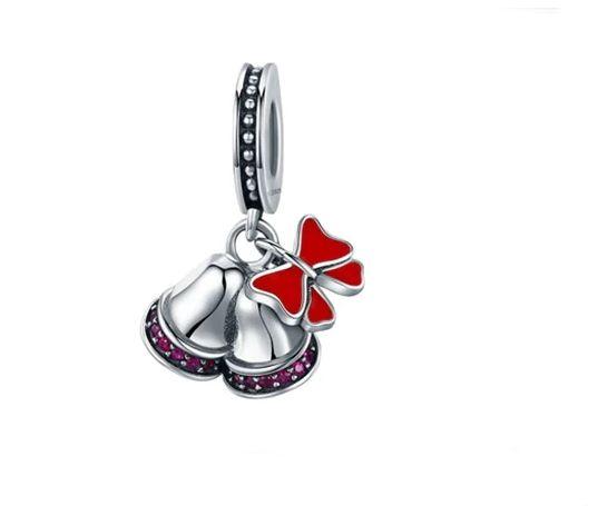 CHARMS do bransoletki Pandora dzwoneczki święta choinka S925