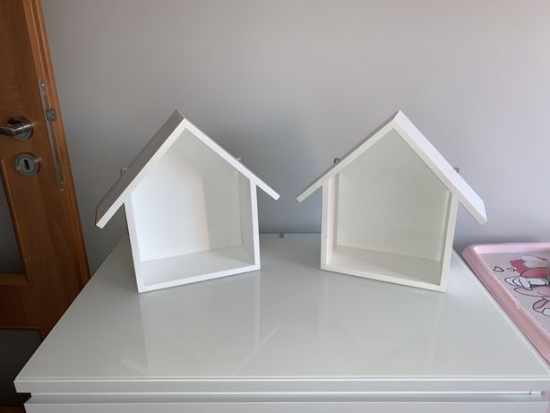 Połka domek handmade białe 2 sztuki