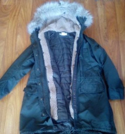 Kurtka zimowa parka khaki H&M