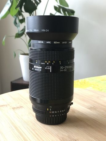 Nikkor 70-210mm 4-5,6 gratis filtr uv, osłona przeciwsloneczna