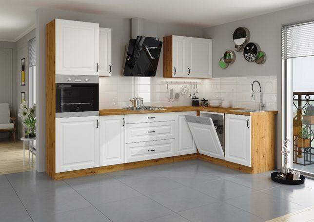 Nowe meble kuchenne kuchnia KLEO MDF styl Angielski Frezowane fronty