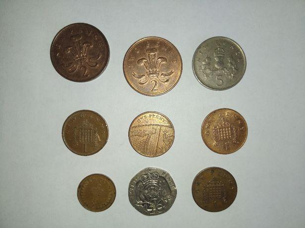 Наборы монет Англия,Индонезия, Испания, Италия,Франция