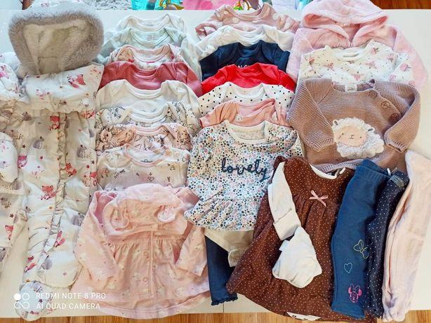 Paka ubranek dla dziewczynki roz. 62