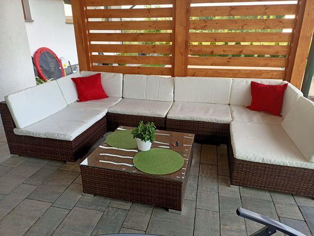Zestaw wypoczynkowy do ogrodu, na taras, zestaw mebli ogrodowych