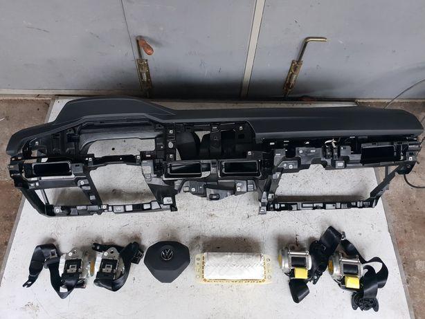 Vw Golf VIII Deska Konsola Airbag Pasy oryginal