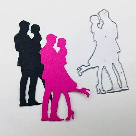Scrapbooking - Wykrojnik - nowożeńcy