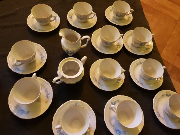 komplet do kawy na 12 osob PRL
