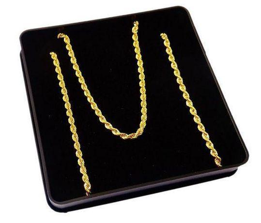 Złoty łańcuszek kordel 45 cm, pr. 333.