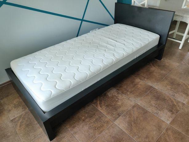 Łóżko IKEA MALM 90x200 czarne z materacem