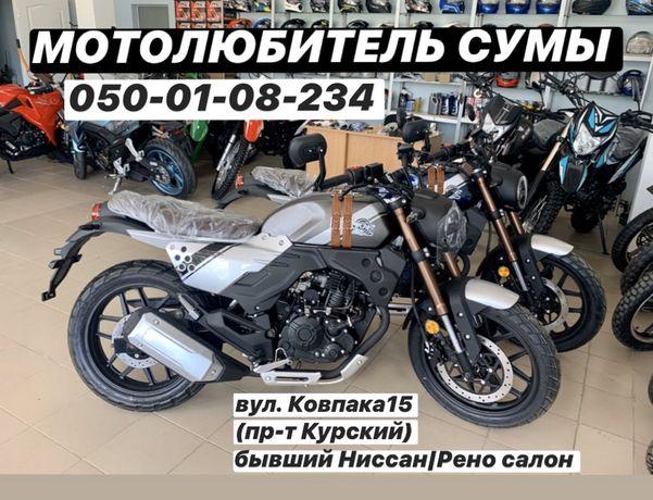 НОВИНКА 2020 Мотоцикл Lifan KPM LF200-3B Scrambler Geon Forte Loncin