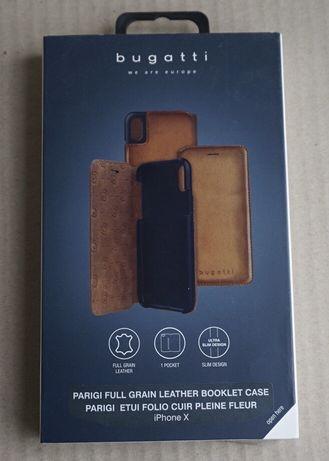 Кожаный чехол книжка iphone x/xs Bugatti