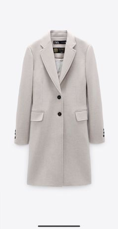 Шерстяное пальто Zara Manteco Italian Fabric