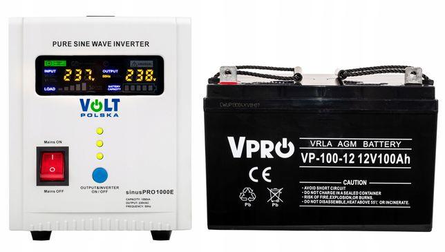 Zasilacz awaryjny zasilanie UPS SINUS 800E 100A akumulator (ZES65)
