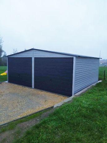Garaż blaszany 6x5, garaż blaszak SZARY/GRAFIT - PRODUCENT