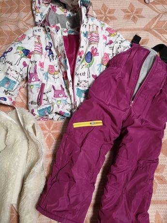 Зимняя куртка и полукомбез, зимний костюм