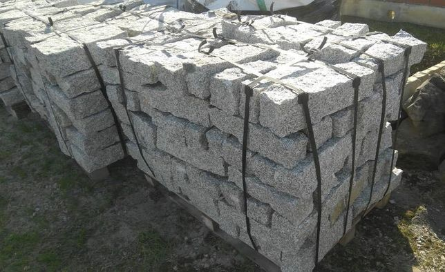 Kostka granitowa brukowa granit obrzeża obrzeże palisada palisady