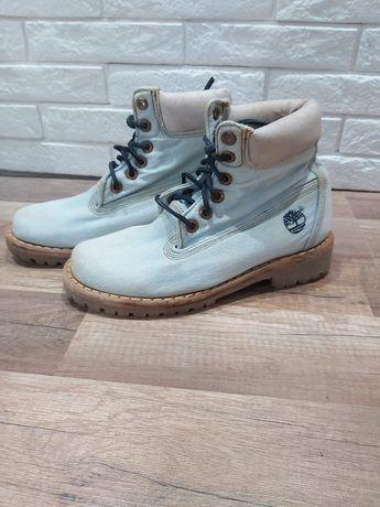 Buty botki traperki Timberland rozmiar 38 używane jeansowe