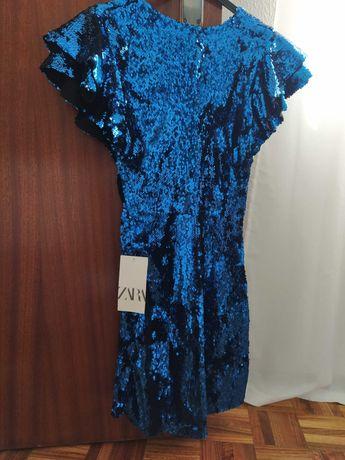 Vestido Zara lantejoulas Novo