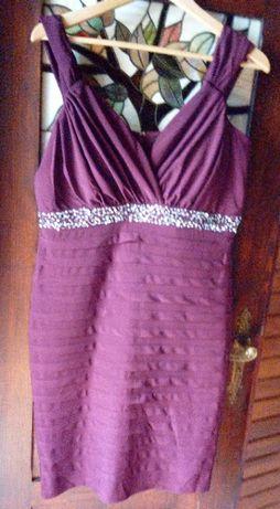 Sukienka wieczorowa bordowa rozmiar L