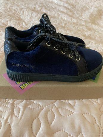 Велюровые итальянские туфли для девочки