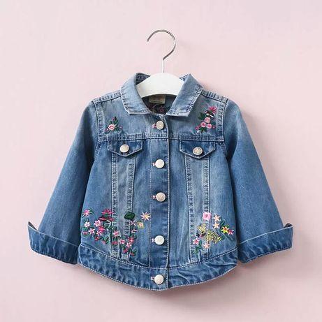 Новая джинсовая куртка, джинсовый пиджак на девочку, рр.от 2-х до 7л.