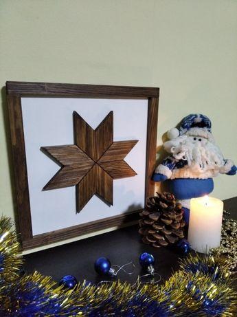 Декор, зірка, восьмикутна зірка колір кипарис, а