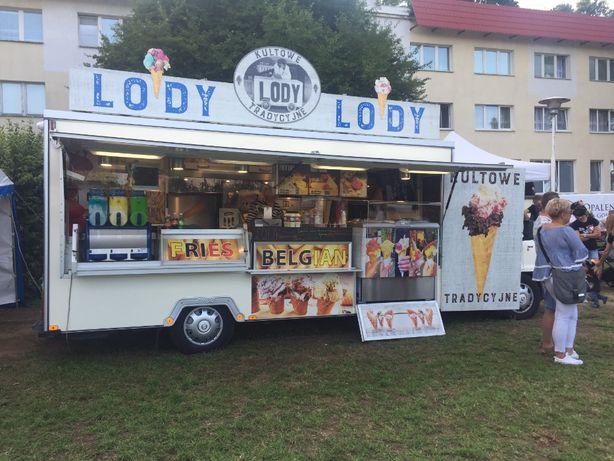 Food truck (Frytki belgijskie, Kebap, Piwo, Lody tradycyjne, Hott-Dog)