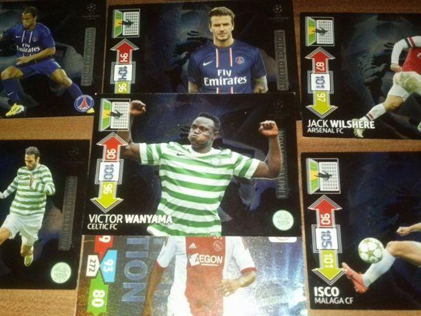 Limited edition karty piłkarskie kolekcjonerskie Panini limitki