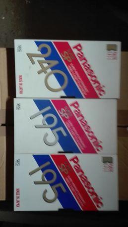 Kasety VHS Panasonic 3 sztuki cena za komplet(jak nowe)