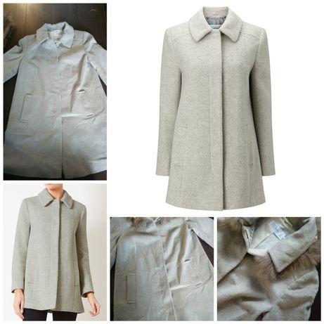 Szary płaszcz John Lewis Jenny A Line Coat